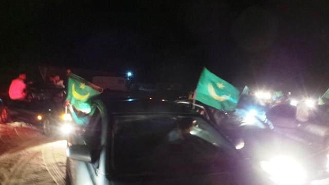 إنطلاق المسيرة وسط أهازيج وزغاريد المؤيدين للتعديلات